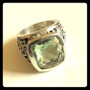 Lois Hill Green Quartz Ring
